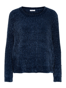 Jacqueline de Yong Trui JDYMINE L/S CROPPED PULLOVER KNT 15140927 Dress Blues
