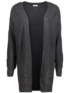 jdymellow l/s cardigan knt 15147309 jacqueline de yong vest dark grey melange