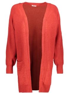 Jacqueline de Yong Vest JDYMELLOW L/S CARDIGAN KNT 15147309 Scarlet Sage