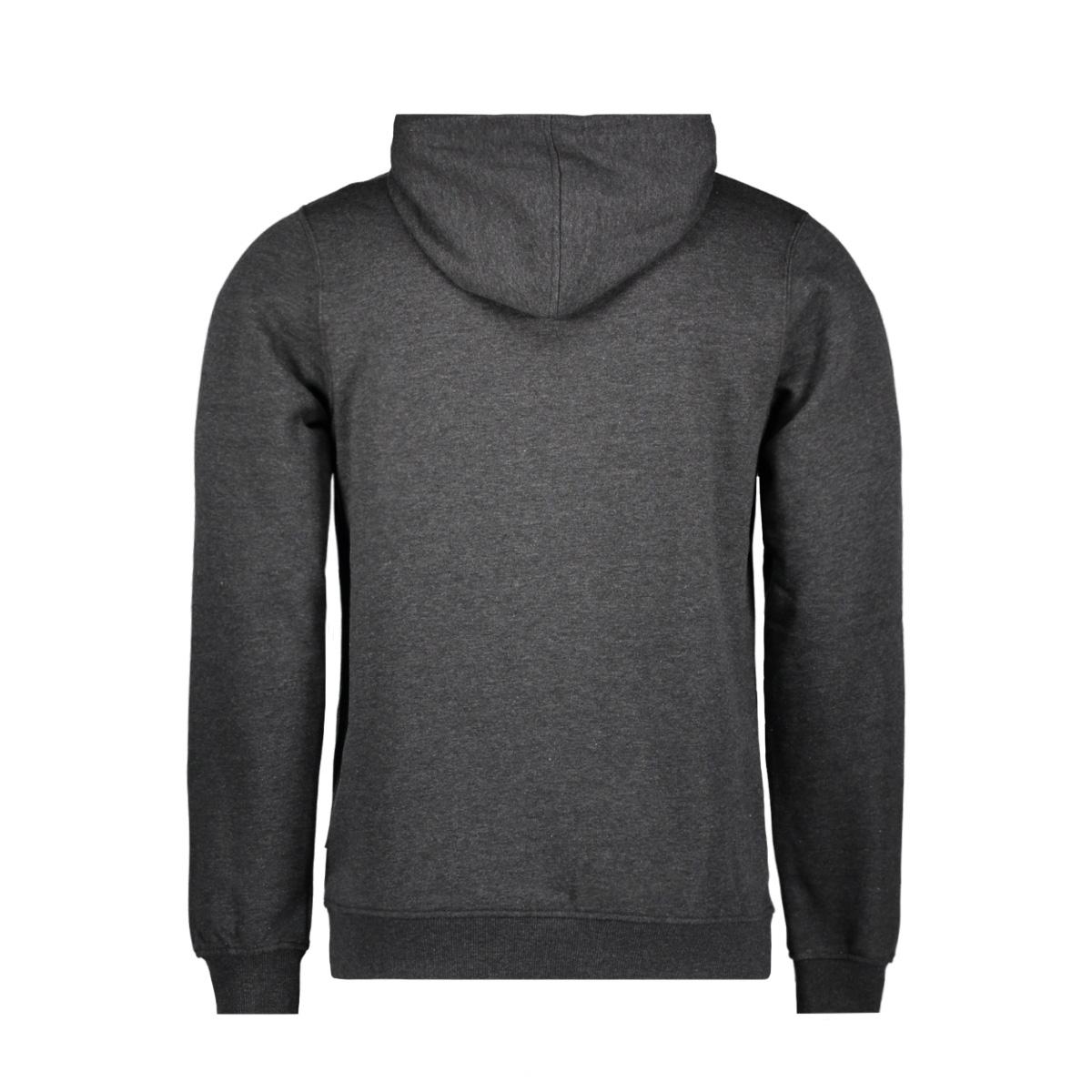 jcolano sweat hood bf 12128568 jack & jones sweater dark grey melan