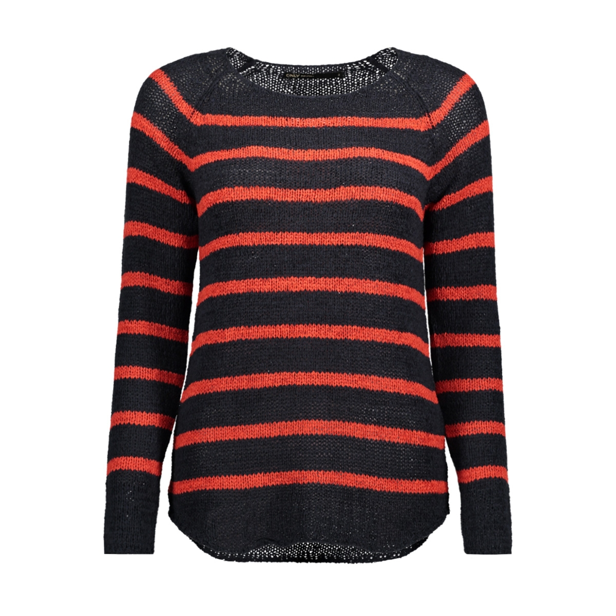 onltappy l/s stripe pullover cc knt 15137444 only trui sky captain / high rise
