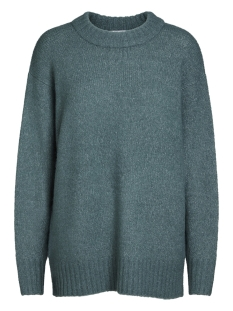 pcabby ls glitter wool knit 17086162 pieces trui silver pine