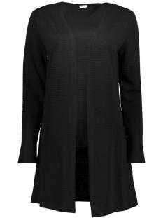 Jacqueline de Yong Vest JDYKASH L/S SWEATIGAN SWT 15147358 Black