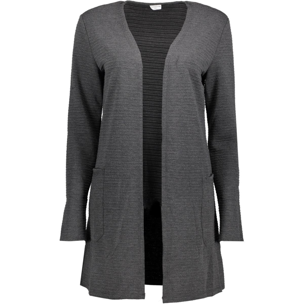 jdykash l/s sweatigan swt 15147358 jacqueline de yong vest dark grey melange