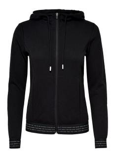 onpvonda hood zip sweat prs 15139508 only play sport vest black/white