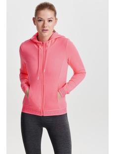 onpvonda hood zip sweat prs 15139508 only play sport vest lipstick pink/white