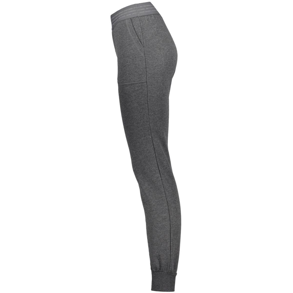 onpvonda slim sweat pants prs 15139507 only play sport broek dark grey melange