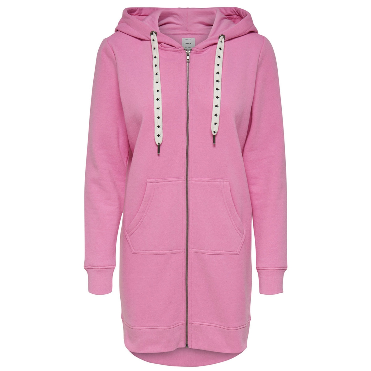 onlabsolute long zip hood cc swt 15145974 only vest begonia pink