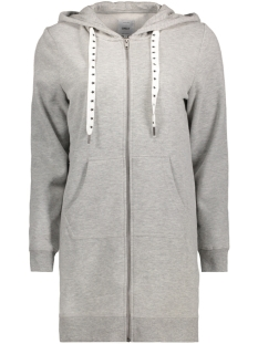onlabsolute long zip hood cc swt 15145974 only vest light grey melange
