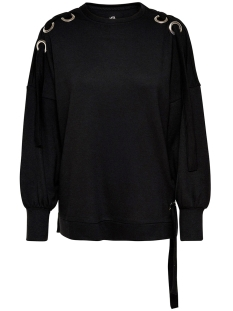 Only Sweater onlEISHA L/S OVERSIZE SWT 15147837 Black