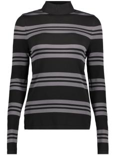 Vero Moda T-shirt VMSASSY LS HIGHNECK BLOUSE 10192694 Black/ Medium Grey