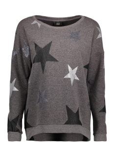 Only Sweater onlHOPE STAR GLITTER L/S ONECK SWT 15157827 Phantom/ Star AOP