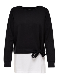 Only Sweater onlANCONA L/S O-NECK MIX SWT 15147253 Black