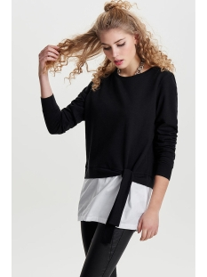 onlancona l/s o-neck mix swt 15147253 only sweater black