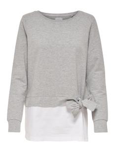 onlancona l/s o-neck mix swt 15147253 only sweater light grey melange