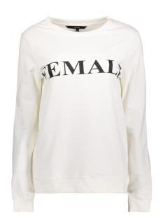 Vero Moda Sweater VMNEWFEMME L/S SWEATSHIRT D2-1 10191762 Snow White