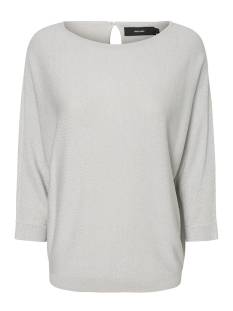 Vero Moda T-shirt VMMAIKEN 3/4 LUREX BLOUSE 10193534 Light Grey Mela/W. SILVER