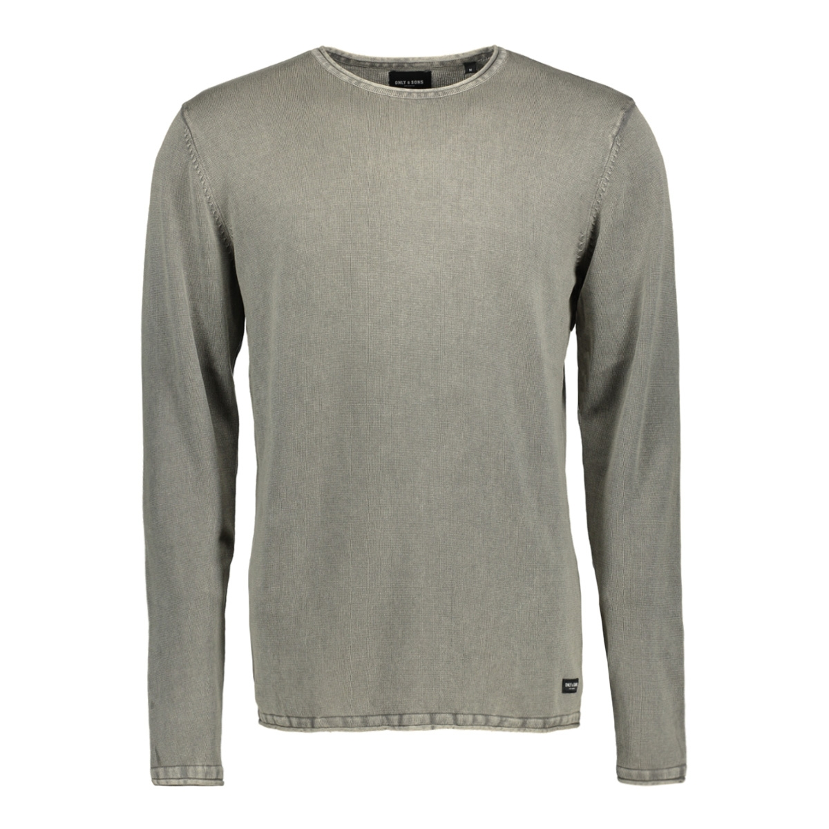 onsgarson wash crew neck knit noos 22006806 only & sons trui seagrass