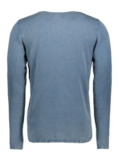 onsgarson wash crew neck knit noos 22006806 only & sons trui copen blue