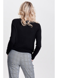 onlmila lacy l/s pullover knt noos 15150242 only trui black