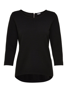 Jacqueline de Yong T-shirt JDYKASH 3/4 ZIP TOP SWT 15147355 Black