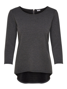 Jacqueline de Yong T-shirt JDYKASH 3/4 ZIP TOP SWT 15147355 Dark Grey Melange