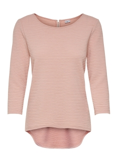 Jacqueline de Yong T-shirt JDYKASH 3/4 ZIP TOP SWT 15147355 Rose Smoke