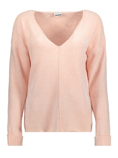 Noisy may Trui NMHANNAH L/S V-NECK KNIT 8B 27000254 Barely Pink