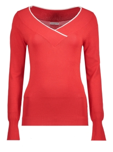 Jacqueline de Yong Trui JDYANCHOR L/S V-NECK PULLOVER 15146233 High Risk Red