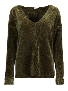 Noisy may Sweater NMHANNAH L/S V-NECK KNIT 8B 27000254 Ivy green