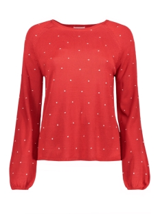 Jacqueline de Yong Trui JDYDOTTIE L/S NEW PULLOVER KNT 15147938 High Risk Red/Cloud dancer