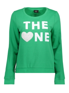 onlsound l/s o-neck box swt 15152509 only sweater bright green/sound the