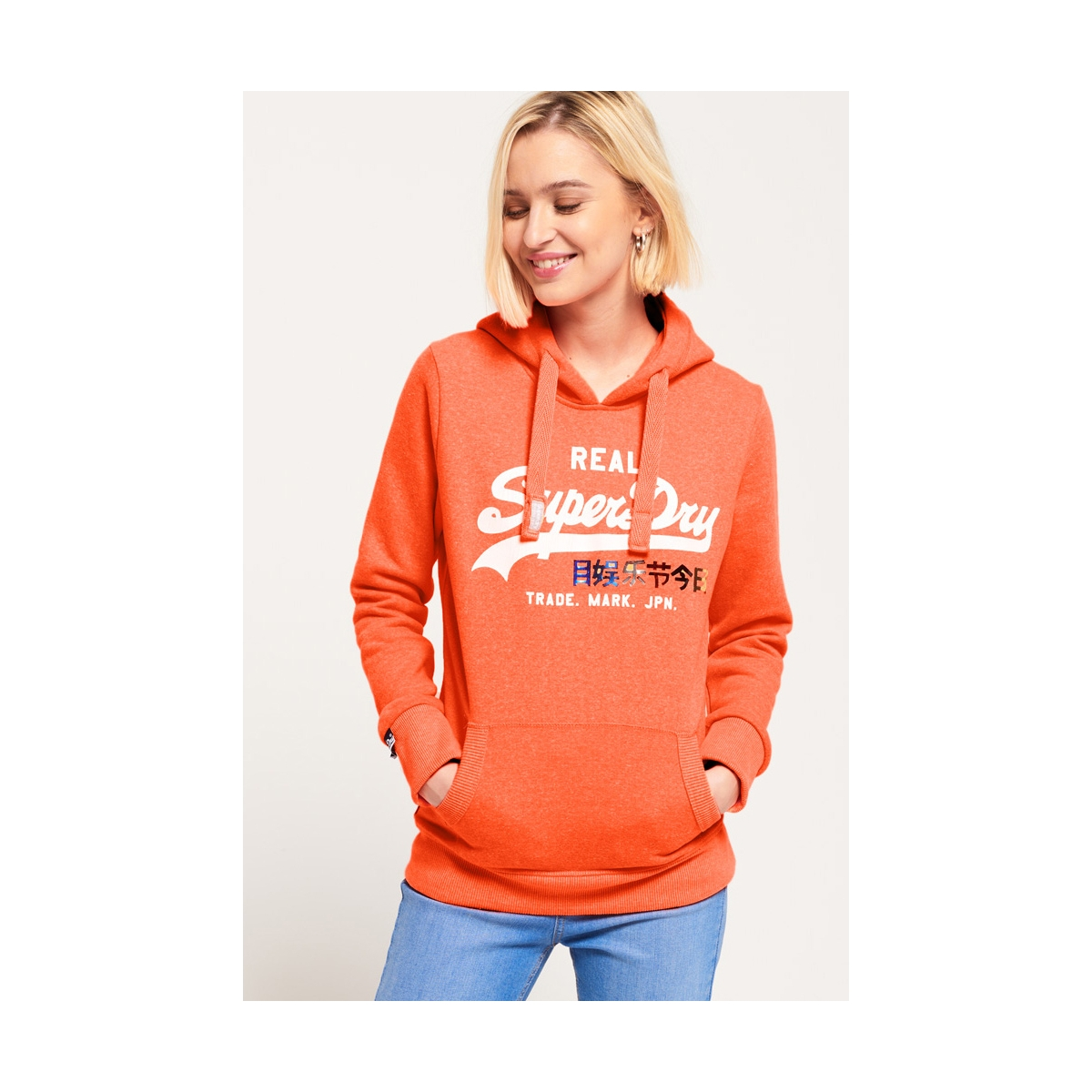 g20005sq superdry sweater ne8 (fluro coral snowy)