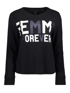 Only Sweater onlAMINA L/S O-NECK BOX SWT. 15152890 Black/W.FEMME