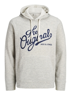 Jack & Jones Sweater JORPANTHER SWEAT HOOD NOOS 12125053 Treated White/REG/MELANG
