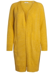 Pieces Vest PCJANE LS LONG WOOL CARDIGAN NOOS 17082985 Nugget Gold