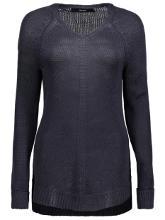 Vero Moda Trui VMKAKI LS DEEP V-NECK BLOUSE 10192179 Night Sky