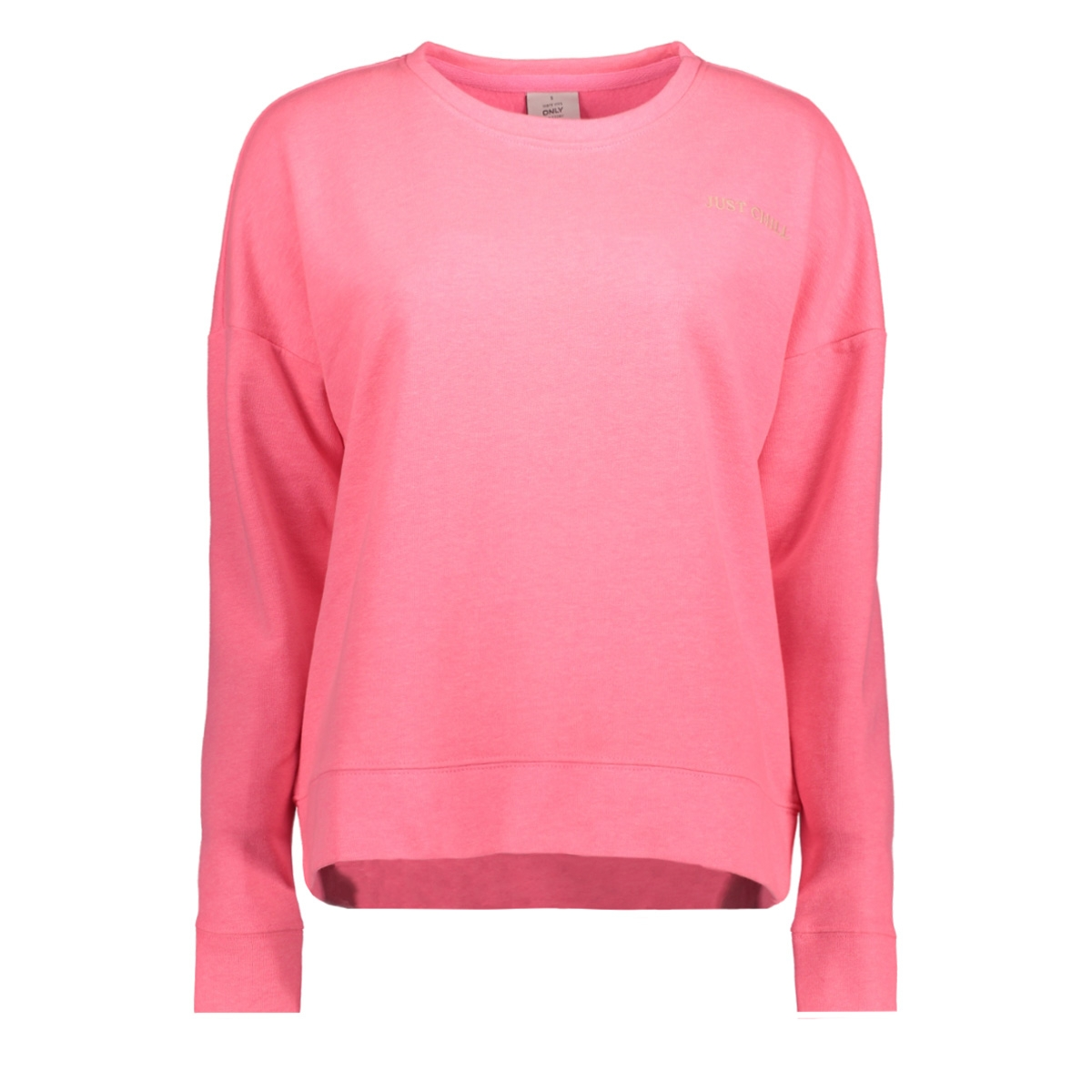 -60% Only Sweater onlJANNI L/S LOOSE O-NECK SWT 15152940 Neon Pink/JUST