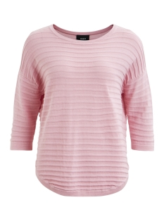 objmorgan rib 3/4 pullover noos 23025949 object trui pink nectar