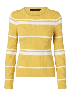 Vero Moda Trui VMABRA STRIPE LS O-NECK BLOUSE 10192325 Cream Gold