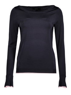 Vero Moda Trui VMCHELSEY LS BOATNECK BLOUSE BOO 10189335 Night Sky/W.ROSE