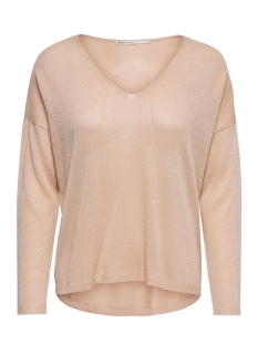 Only Trui onlPISA L/S V-NECK PULLOVER KNT NOOS 15156408 Frosted Almond/W.DTM