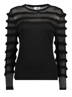 Only Trui onlLOUISE L/S FRILL PULLOVER KNT 15150499 Black
