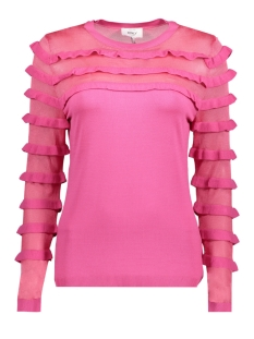 Only Trui onlLOUISE L/S FRILL PULLOVER KNT 15150499 Pink Peacock