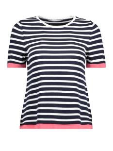 Only T-shirt onlSUZANA S/S PULLOVER BOX KNT 15156390 Night Sky/W CLOUD DA