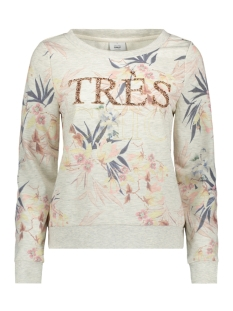 Only Sweater onlNEW AJA EMBELLISHMENT L/S  AOP S 15156155 Oatmeal/Shelter