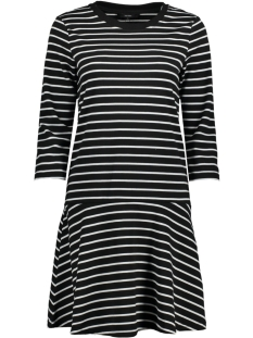 Vero Moda Jurk VMNIRA 3/4 SWEAT DRESS D2-1 10193578 Black / Snow White