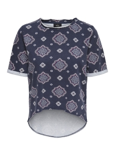 Only T-shirt onlVICTORIA S/S ONECK SWT 15155956 Night Sky / Global Med