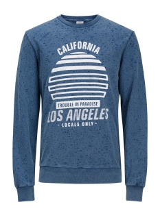 Jack & Jones Sweater JORSUNSET SWEAT CREW NECK 12136324 Dark Denim