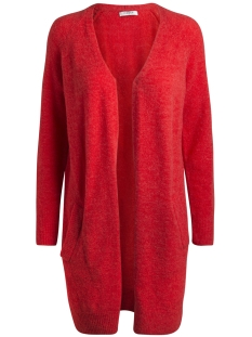 Pieces Vest PCJANE LS LONG WOOL CARDIGAN NOOS 17082985 Flame Scarlet/SOLID